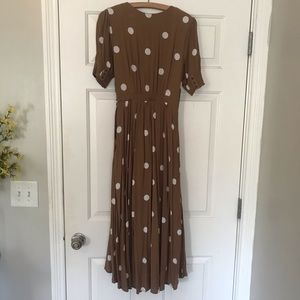 Anthropologie Dresses - Anthropologie Breanna Polka Dot Dress